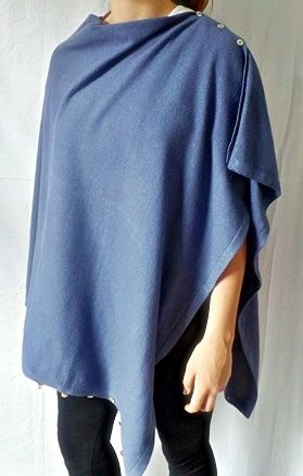 Plain Convertible Ponshawl ~ Denim