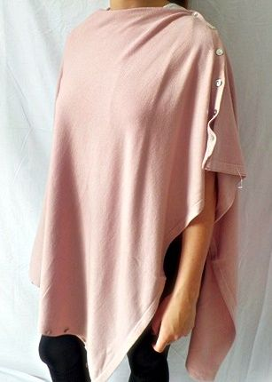 Plain Convertible Ponshawl ~ Dusty Pink