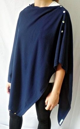 Plain Convertible Ponshawl ~ Navy